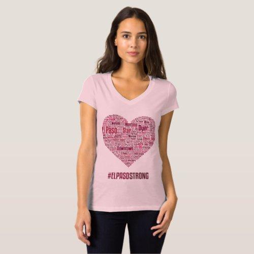 El Paso Heart 2019 _ Wine Theme Light T_Shirt