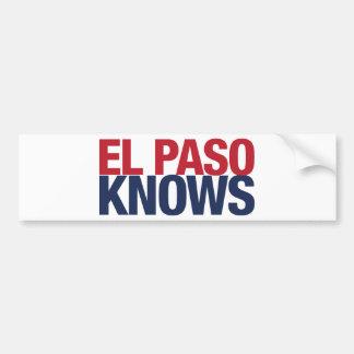 El Paso Knows Bumper Sticker