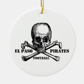 El Paso Pirates Souveniers Ceramic Ornament