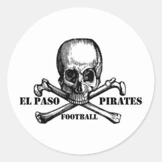 El Paso Pirates Souveniers Classic Round Sticker