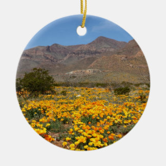 El Paso Poppies Ceramic Ornament