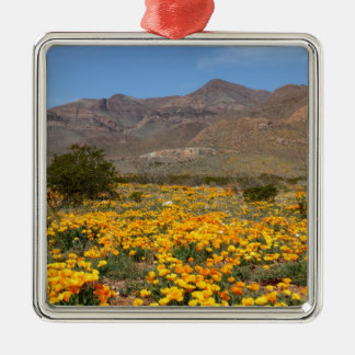 El Paso Poppies Metal Ornament