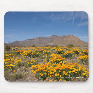 El Paso Poppies Mouse Pad