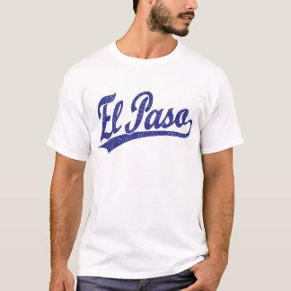 El Paso script logo in blue T-Shirt