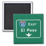 El Paso, señal de tráfico de TX Imán Cuadrado