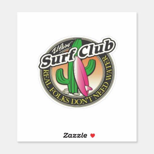 El Paso Surf Club UNISEX Sticker