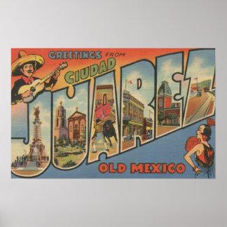 El Paso, Tejas - Ciudad Juárez Póster