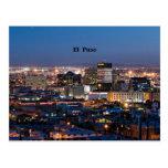 El Paso, Tejas en la noche Tarjeta Postal