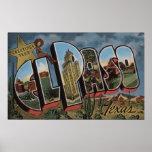 El Paso, Tejas - escenas grandes de la letra Poster