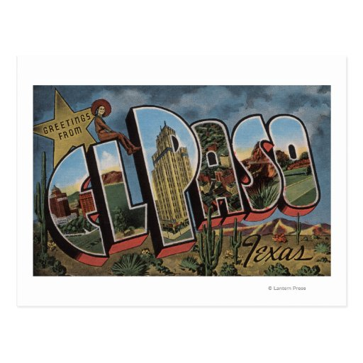 El Paso, Tejas - escenas grandes de la letra Tarjeta Postal