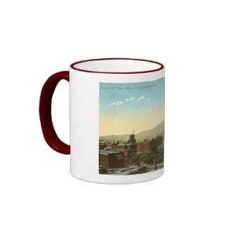 El Paso, Texas 1909 Vintage mug