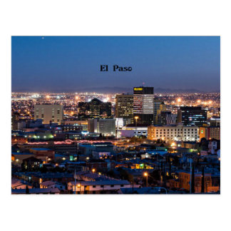 El Paso, Texas at Night Postcard