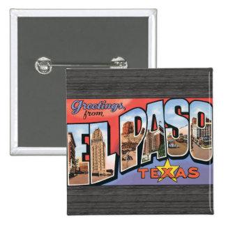 El Paso Texas Button