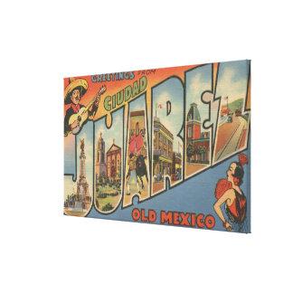 El Paso, Texas - Ciudad Juarez Canvas Print