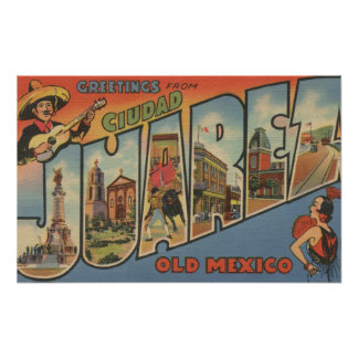 El Paso, Texas - Ciudad Juarez Poster