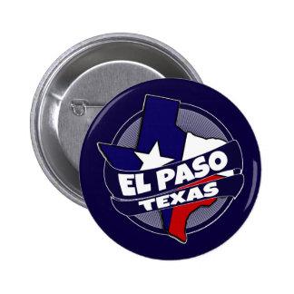 El Paso Texas flag burst button