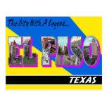 El Paso Texas Large Letter Postcard