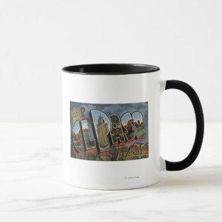 El Paso, Texas - Large Letter Scenes Mug
