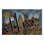 El Paso, Texas - Large Letter Scenes Poster