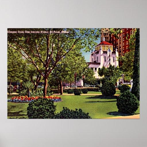 El Paso, Texas Plaza 1940 Poster