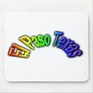 El Paso Texas Popular Rainbow Design Mouse Pad