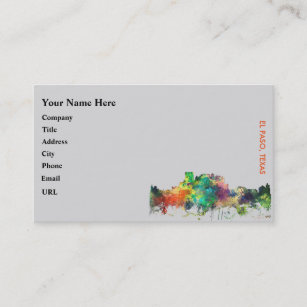 El paso business cards templates zazzle el paso texas skyline sp business card reheart Image collections