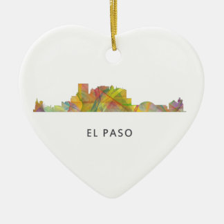 EL PASO, TEXAS SKYLINE WB1 - CERAMIC ORNAMENT