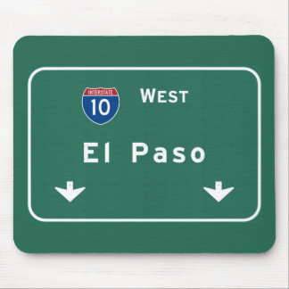 El Paso Texas tx Interstate Highway Freeway Road : Mouse Pad
