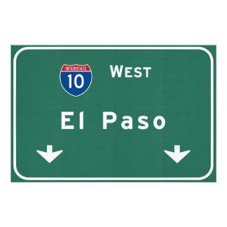 El Paso Texas tx Interstate Highway Freeway Road : Photo Print