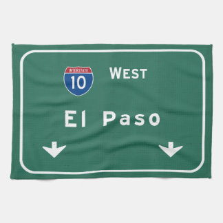 El Paso Texas tx Interstate Highway Freeway Road : Towel