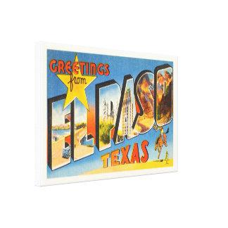El Paso Texas TX Old Vintage Travel Souvenir Canvas Print