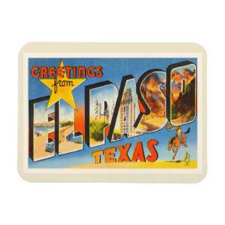 El Paso Texas TX Old Vintage Travel Souvenir Magnet