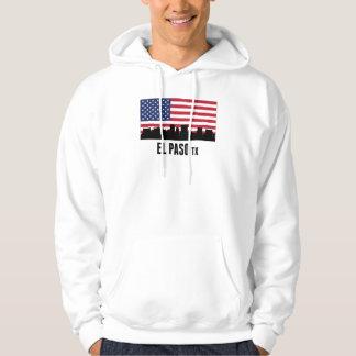 El Paso TX American Flag Hooded Sweatshirt