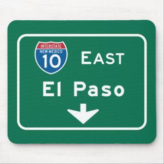 El Paso, TX Road Sign Mouse Pad