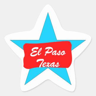 El Paso TX Texas Lone Star Luggage Travel sticker