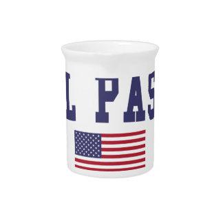El Paso US Flag Drink Pitcher