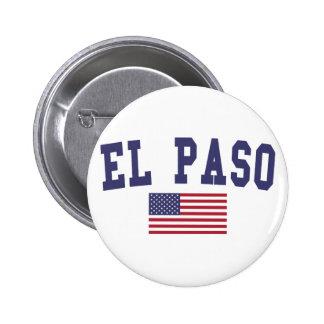 El Paso US Flag Pinback Button