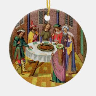 El Passover de los judíos, facsímil de un siglo XV Adorno De Reyes