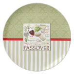 El Passover redacta la placa de Seder Plato De Cena