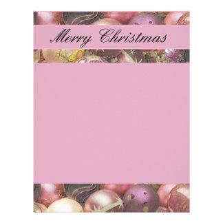 El pastel adorna la letra del navidad plantillas de membrete