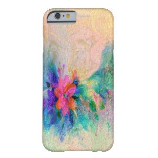 El pastel colorido suave sombreó iPhone floral 6 Funda Para iPhone 6 Barely There