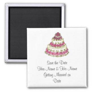 El pastel de bodas, ahorra el imán de la fecha
