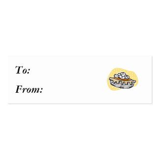 el pastel de calabaza azotó la crema plantilla de tarjeta de visita