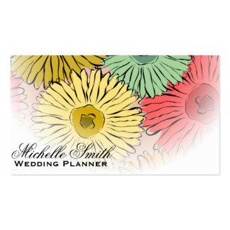 El pastel femenino florece a los floristas que tarjetas de visita