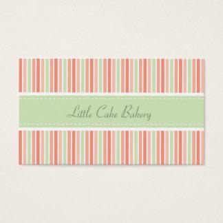 El pastel raya la panadería tarjetas de visita