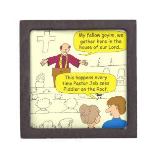 El pastor 673 va al dibujo animado del Fiddler Cajas De Recuerdo De Calidad