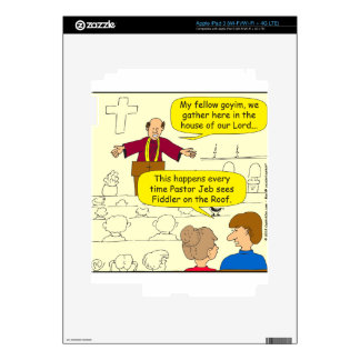El pastor 673 va al dibujo animado del Fiddler iPad 3 Skin