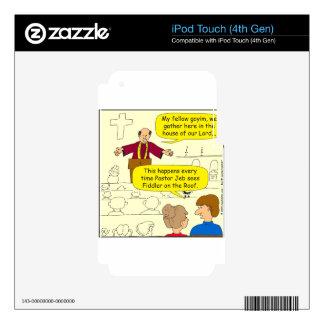 El pastor 673 va al dibujo animado del Fiddler iPod Touch 4G Skins