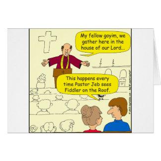 El pastor 673 va al dibujo animado del Fiddler Tarjeta De Felicitación
