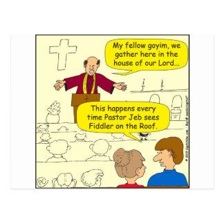 El pastor 673 va al dibujo animado del Fiddler Tarjeta Postal